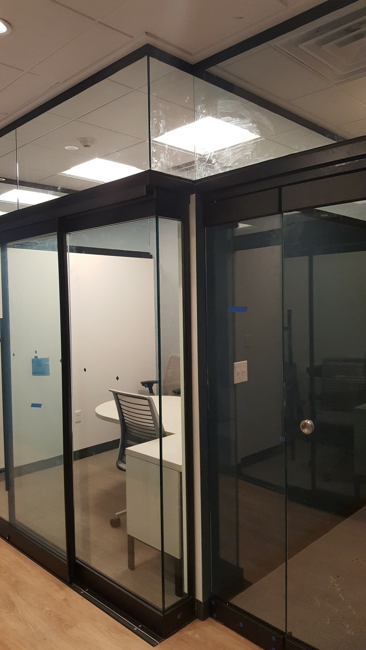 Office sliding glass door
