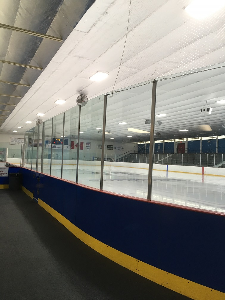 Ice Rink Tempered Glass