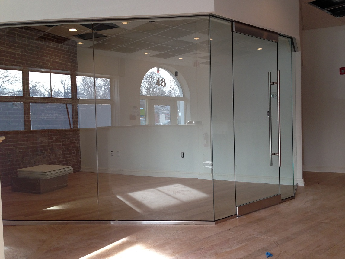 Glass Surrounding Office Space