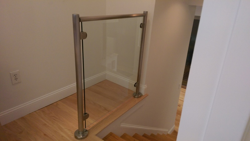 Glass Rails over stairs