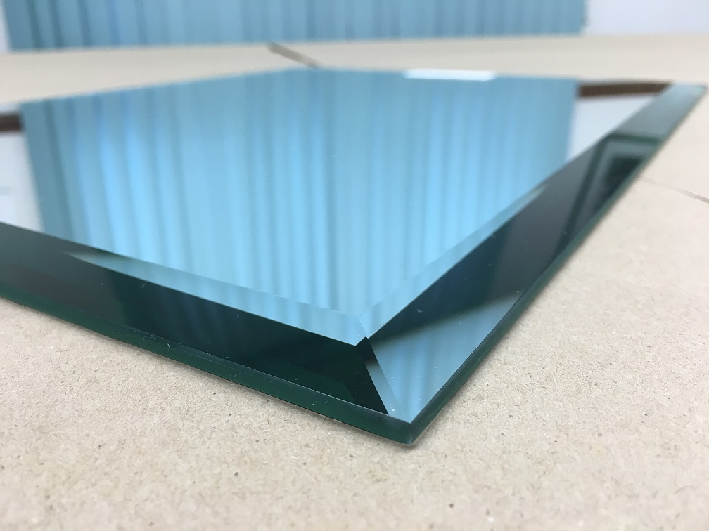 Blue Mirror Glass with Beveled Edge in Massachusetts